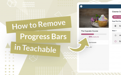 How to Remove Progress Bars in Teachable