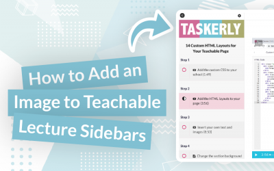 How to Add an Image to Teachable's Lecture Sidebars